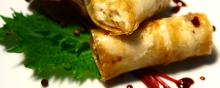 Involtini di Ombrina all'Aceto Balsamico Tradizionale di Modena DOP Extra Vecchio GELSO con Misticanza alle Erbe Aromatiche - chef Bruno Barbieri - Ristorante ARQUADE Relais & Chateau VILLA DEL QUAR (VR)