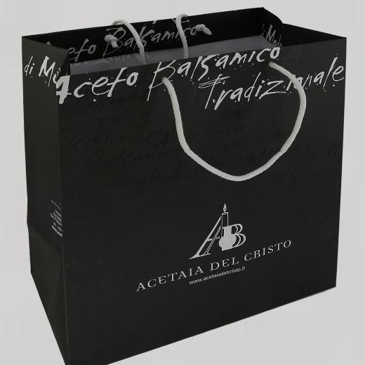 Borsa NERA (grande) ACETAIA DEL CRISTO Accessorio a Corredo dell'Aceto Balsamico Tradizionale di Modena dop
