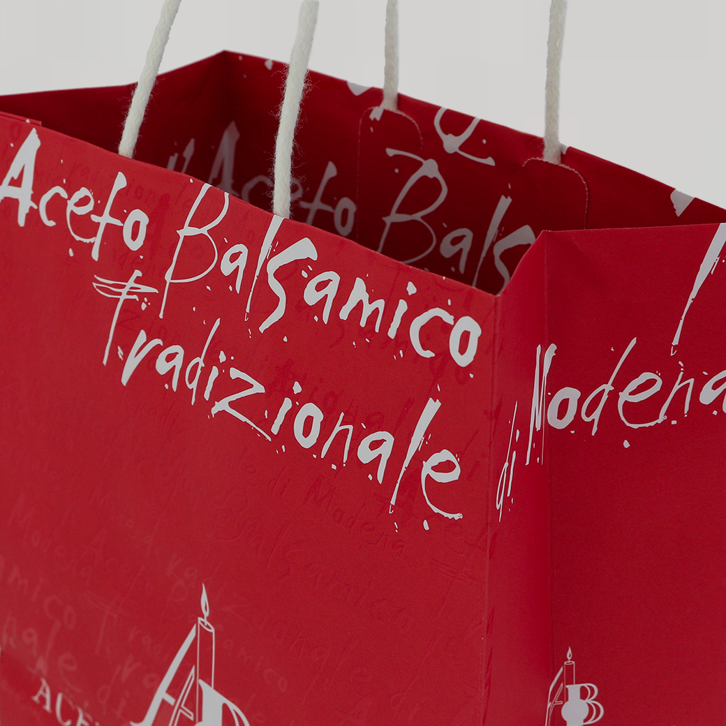 Borsina ROSSA (piccola) ACETAIA DEL CRISTO Accessorio a Corredo dell'Aceto Balsamico Tradizionale di Modena dop