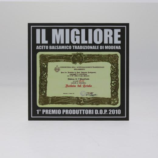 Accessorio a Corredo Targa Adesiva - IL MIGLIORE Aceto Balsamico Tradizionale di Modena DOP