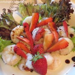 insalata di gamberi e aceto balsamico tradizionale