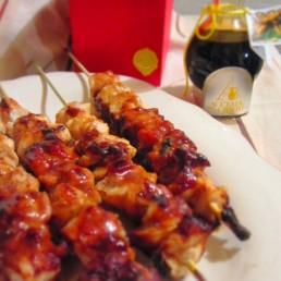 spiedini di pollo con aceto balsamico tradizionale di modena