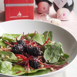 Insalata di spinacino baby con Aceto Balsamico Tradizionale di Modena dop